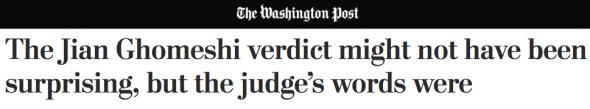 GHOMESHI HEDS- Washington Post