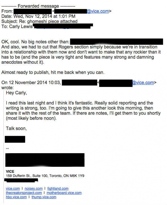 VICE EMAIL - REDACTED
