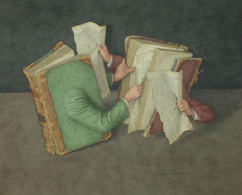 Combat de livres