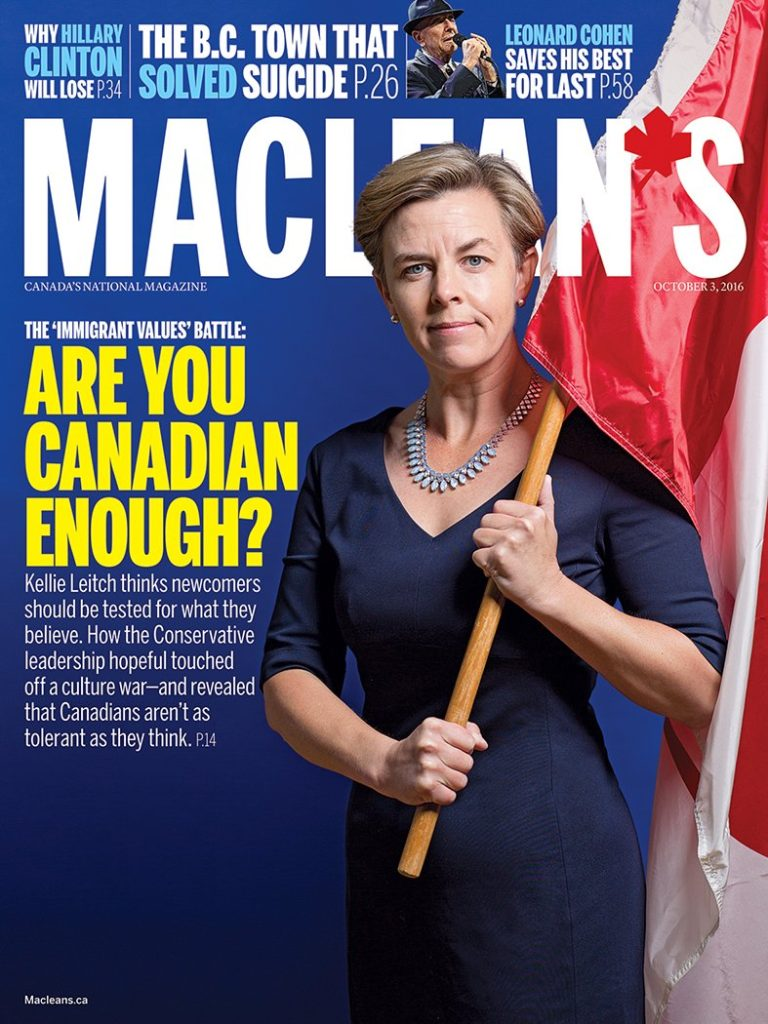 The cover of the Maclean's Magazine Oct. 3 Issue.